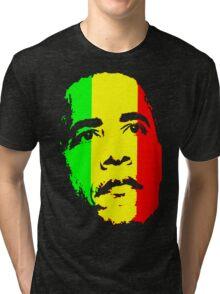 Barack Obama Green Gold and Red t shirt Tri-blend T-Shirt
