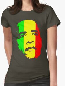 Barack Obama Green Gold and Red t shirt Womens Fitted T-Shirt