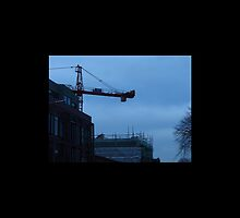 Crane on baggot street by Alexkeane1