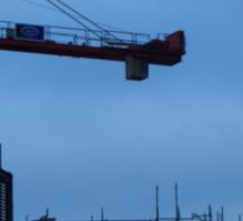 Crane on baggot street Sticker