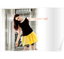 Anne Duffy Fashion Shoot Yellow Skirt Poster