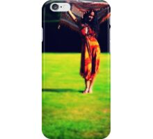 Colourful lady standing art iPhone Case/Skin