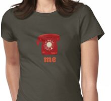 phone me red Womens Fitted T-Shirt