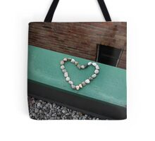 Love on the line Tote Bag