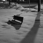 Park Bench After Snow Storm by Jonathan Eggers