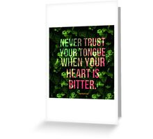 Bitter Heart Greeting Card