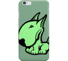 Odie English Bull Terrier Pale Green  iPhone Case/Skin