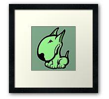 Odie English Bull Terrier Pale Green  Framed Print