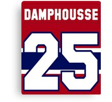 Vincent Damphousse #25 - red jersey Canvas Print