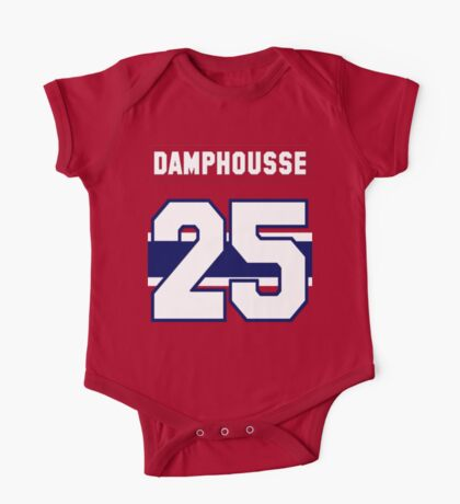 Vincent Damphousse #25 - red jersey One Piece - Short Sleeve