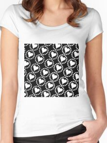 White Hearts Women's Fitted Scoop T-Shirt