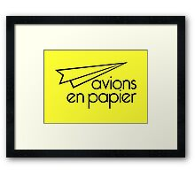 Paper Planes Extras: Yellow Framed Print