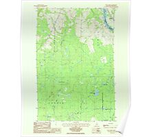 Maine USGS Historical Map Doyle Ridge 807886 1986 24000 Poster
