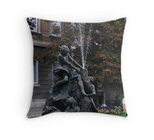 Budapest waterspout Throw Pillow