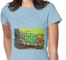 """Life is like riding a bicycle...""  Albert Einstein Womens Fitted T-Shirt"