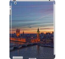 Sunset Over London - A Bird View iPad Case/Skin