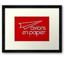 Paper Planes Extras: Red Framed Print