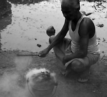 """The Old Man and The Burning Pot by """" RiSH """""""
