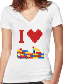 Build it Higher Women's Fitted V-Neck T-Shirt