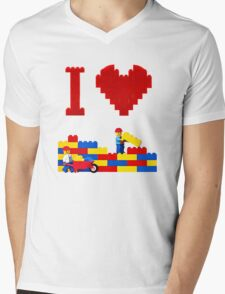Build it Higher Mens V-Neck T-Shirt