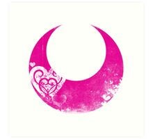 Sailor Chibi Moon grunge symbol Art Print
