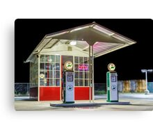 Late Night Gas Station Canvas Print