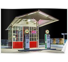 Late Night Gas Station Poster