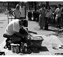 Sidewalk Artist Photographic Print