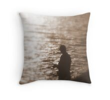 Soulful Fishermen Throw Pillow