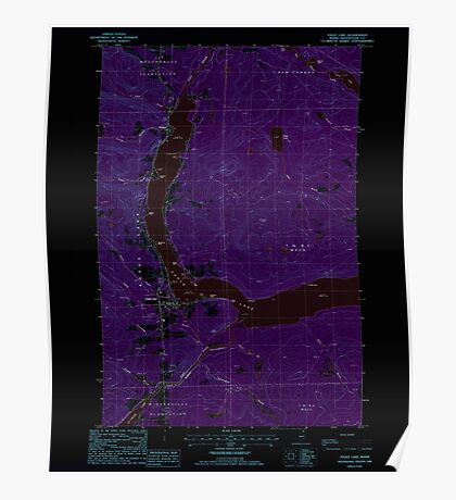 Maine USGS Historical Map Eagle Lake 105085 1985 24000 Inversion Poster