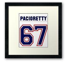 Max Pacioretty #67 - white jersey Framed Print
