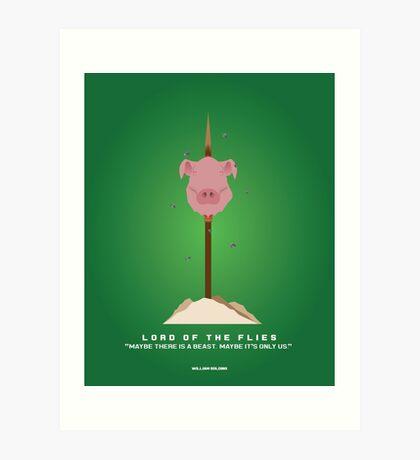 Literary Classics Illustration  Series: Lord of the Flies Art Print