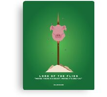 Literary Classics Illustration  Series: Lord of the Flies Canvas Print