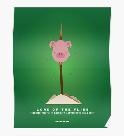Literary Classics Illustration  Series: Lord of the Flies Poster