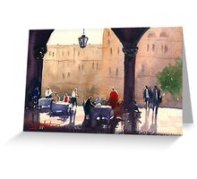 Breakfast under the arches Greeting Card