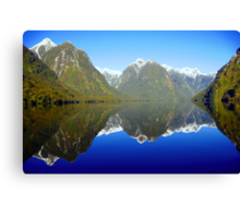 Doubtful Sound Reflections Canvas Print