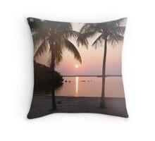 sunrise in  key largo Throw Pillow