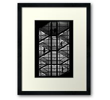Climbing, Descending, Standing Framed Print