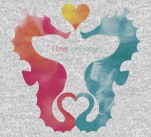 Love Seahorses - Heart Sun One Piece - Long Sleeve