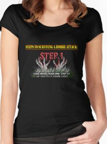 Zombie Survival Tips Women's Fitted Scoop T-Shirt