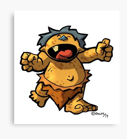 Baby Monster Canvas Print