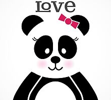 Panda Love by noondaydesign