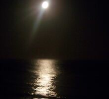 Full Moon over Towradgi Beach by Coloursofnature