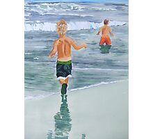 Two beach boys Photographic Print