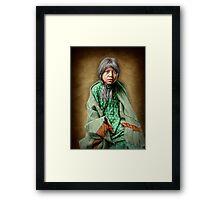 A Taos girl Framed Print