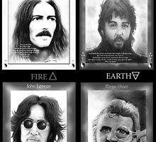 Fab Four Elements by Pendragon-Art