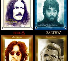 Fab Four Elements in Color by Pendragon-Art