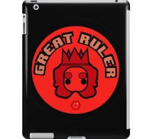 Great Ruler (Red) iPad Case/Skin