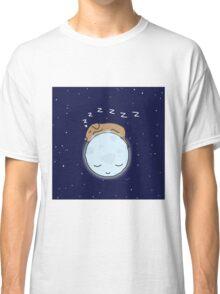 Sleeping Dog & Nightime Moon Classic T-Shirt