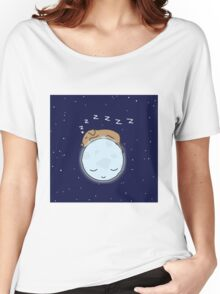 Sleeping Dog & Nightime Moon Women's Relaxed Fit T-Shirt